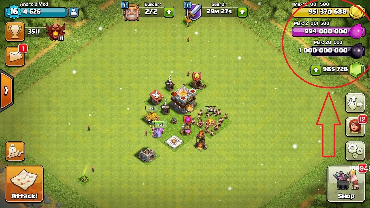 coc hack version download android